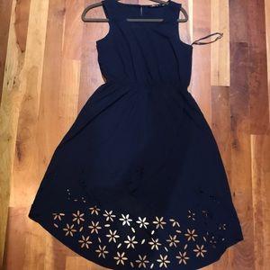 Navy High Low Summer Dress.